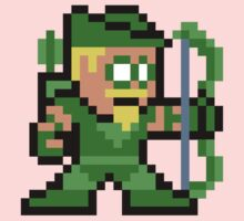 8-bit Green Arrow One Piece - Short Sleeve