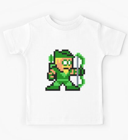 8-bit Green Arrow Kids Tee
