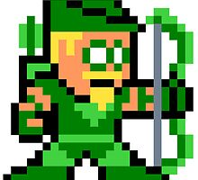 8-bit Green Arrow by 8 Bit Hero