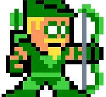 8-bit Green Arrow by 8 Bit Hero