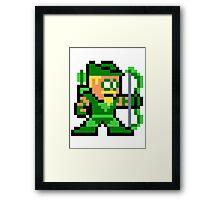 8-bit Green Arrow Framed Print
