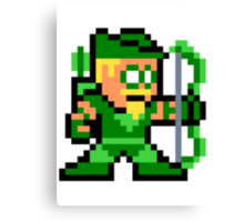 8-bit Green Arrow Canvas Print