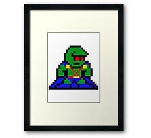 8-bit Martian Manhunter Framed Print