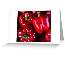 red bell peppers Greeting Card