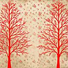 RED CEDARS ARTWORK by RainbowArt