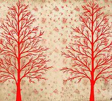 RED CEDARS ARTWORK by RainbowArt