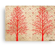 RED CEDARS ARTWORK Canvas Print