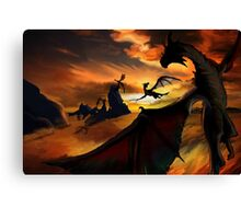 Dragon Planes Canvas Print