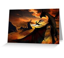 Dragon Planes Greeting Card