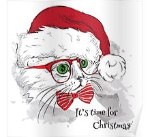 Christmas Cat Poster