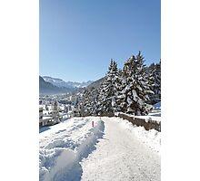 Winter in Switzerland Photographic Print
