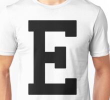 Letterman E Unisex T-Shirt