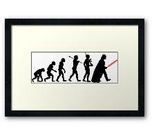 Darth Vader Evolution Framed Print
