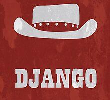 Django Unchained Minimal Print by MrDave888
