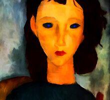portrait of a woman by James E. Thomas