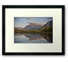 Mount Rundle, Alberta Framed Print