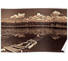 Sitting By The Dock at Loon Lake Poster