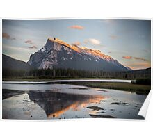 Mount Rundle on Fire, Alberta Poster