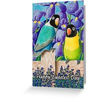 Sweetest Dsy Black-faced Lovebirds Greeting Card