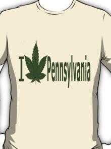 0236 I Love Pennsylvania  T-Shirt