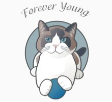 Forever Young Playful Snowshoe Cat Kids Tee