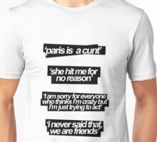 SHE HIT ME FOR NO REASON Unisex T-Shirt