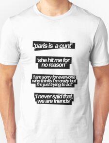SHE HIT ME FOR NO REASON T-Shirt