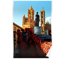Palermo Cathedral with Santa Rosalia. Sicily, Italy Poster