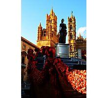 Palermo Cathedral with Santa Rosalia. Sicily, Italy Photographic Print