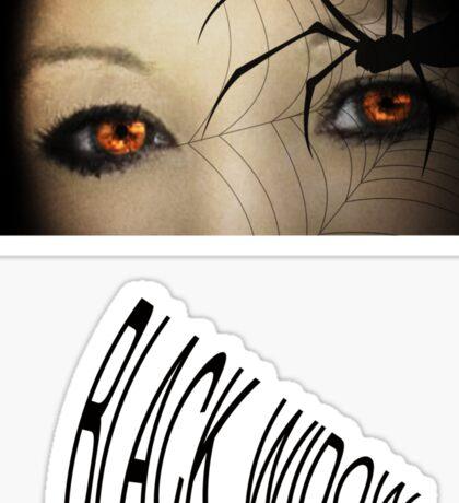 Black Widow T Shirts & Stickers Sticker