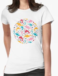 Cute colorful dolphins pattern T-Shirt
