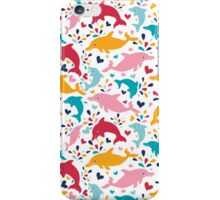 Cute colorful dolphins pattern iPhone Case/Skin