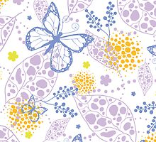 Butterfly garden pattern by oksancia