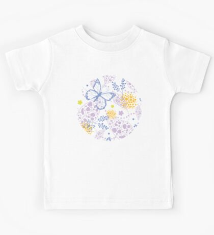 Butterfly garden pattern Kids Tee