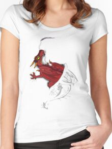 Sir, there appears to be a dragon in your shirt [light ver] Women's Fitted Scoop T-Shirt
