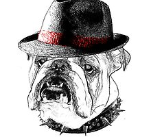 English Bulldog by American Artist