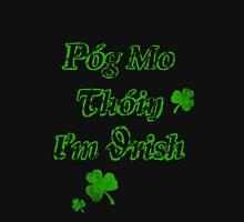 Póg mo thóin I'm Irish Womens Fitted T-Shirt