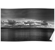 Clouds Over River Poster