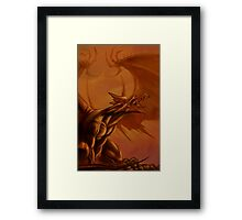 Screaming Dragon by William Kenney Framed Print