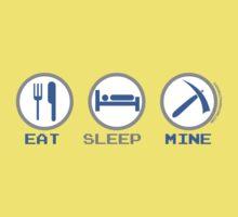 Eat Sleep Mine One Piece - Short Sleeve
