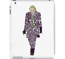Joker from The Dark Knight Typography Design of His Quote iPad Case/Skin