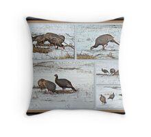 Wild Turkeys - Meleagris gallopavo Throw Pillow