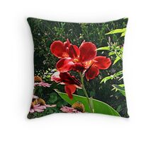 Unusual Red Lily Throw Pillow
