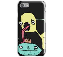 Creatures licking and poking things iPhone Case/Skin