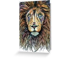 Rainbow Lion Greeting Card