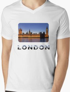London Designers T-Shirts and Stickers. Mens V-Neck T-Shirt