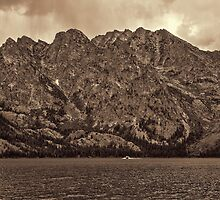 Jenny Lake Under The Face of Mt. St. John II by Brenton Cooper