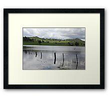 Underwater barrier Framed Print