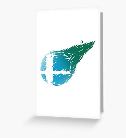 CLOUD SMASH Greeting Card