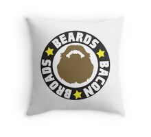 Beards Bacon Broads Throw Pillow